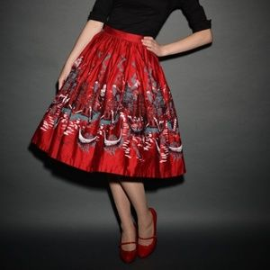 Pinup Girl Clothing Skirt Italian Landscape